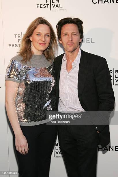 Actor Andrew McCarthy and Wife Dolores Rice attends the CHANEL Tribeca Film Festival Dinner in support of the Tribeca Film Festival Artists Awards...