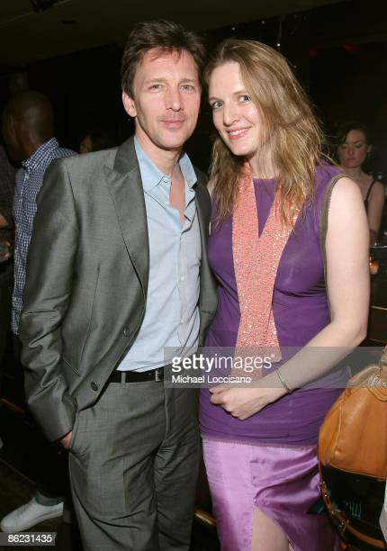 "Actor Andrew McCarthy and wife wife Dolores Rice attend the after party for ""The Good Guy"" during the 2009 Tribeca Film Festival at Tenjune on April..."