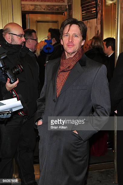 Actor Andrew McCarthy attends the Broadway opening night of Race at The Ethel Barrymore Theatre on December 6 2009 in New York City