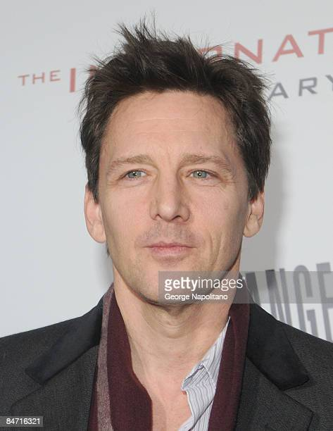Actor Andrew McCarthy attends the Cinema Society and Angel by Thierry Mugler screening of 'The International' at AMC Lincoln Square on February 9...