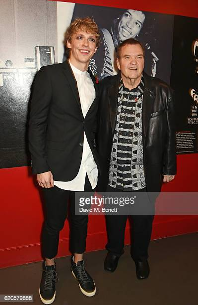 Actor Andrew Polec and Meat Loaf attend a drinks reception at The Stubhub Q Awards 2016 at The Roundhouse on November 2 2016 in London England