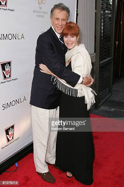 Actor Andrew Prine and producer Heather Lowe attend The Heart Touch Project's 'One Night One Heart' tribute dinner at the Sofitel Hotel on May 13...