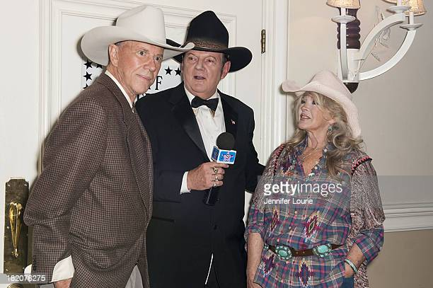 Actor Andrew Prine radio personality Jeff Sutherland and actress Connie Stevens attend the 16th Annual Silver Spur Awards hosted by The Reel Cowboys...