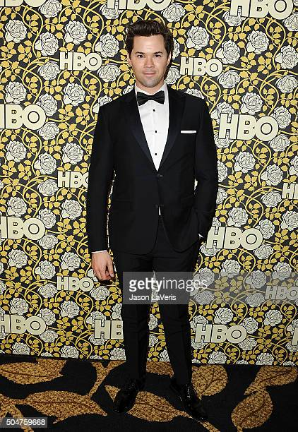 Actor Andrew Rannells attends HBO's post 2016 Golden Globe Awards party at Circa 55 Restaurant on January 10 2016 in Los Angeles California