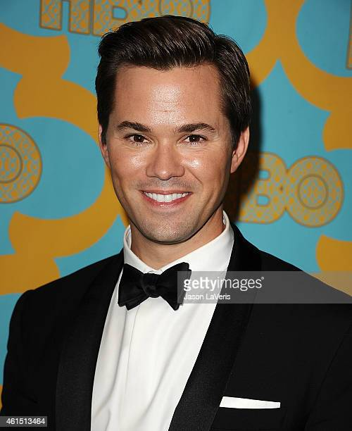 Actor Andrew Rannells attends HBO's post Golden Globe Awards party at The Beverly Hilton Hotel on January 11 2015 in Beverly Hills California