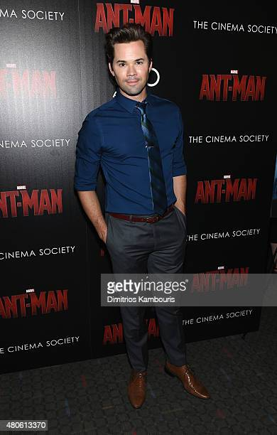 Actor Andrew Rannells attends Marvel's screening of AntMan hosted by The Cinema Society and Audi at SVA Theater on July 13 2015 in New York City