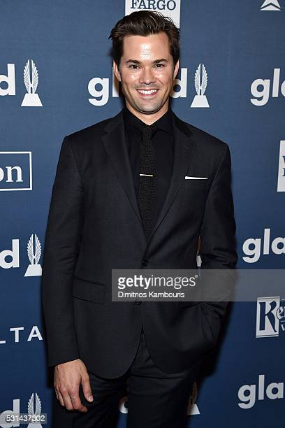 Actor Andrew Rannells attends the 27th Annual GLAAD Media Awards in New York on May 14 2016 in New York City