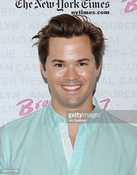 Actor Andrew Rannells attends the Broadway Barks 17 at Shubert Alley on July 11 2015 in New York City
