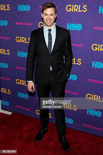 Actor Andrew Rannells attends the 'Girls' season three premiere at Jazz at Lincoln Center on January 6 2014 in New York City