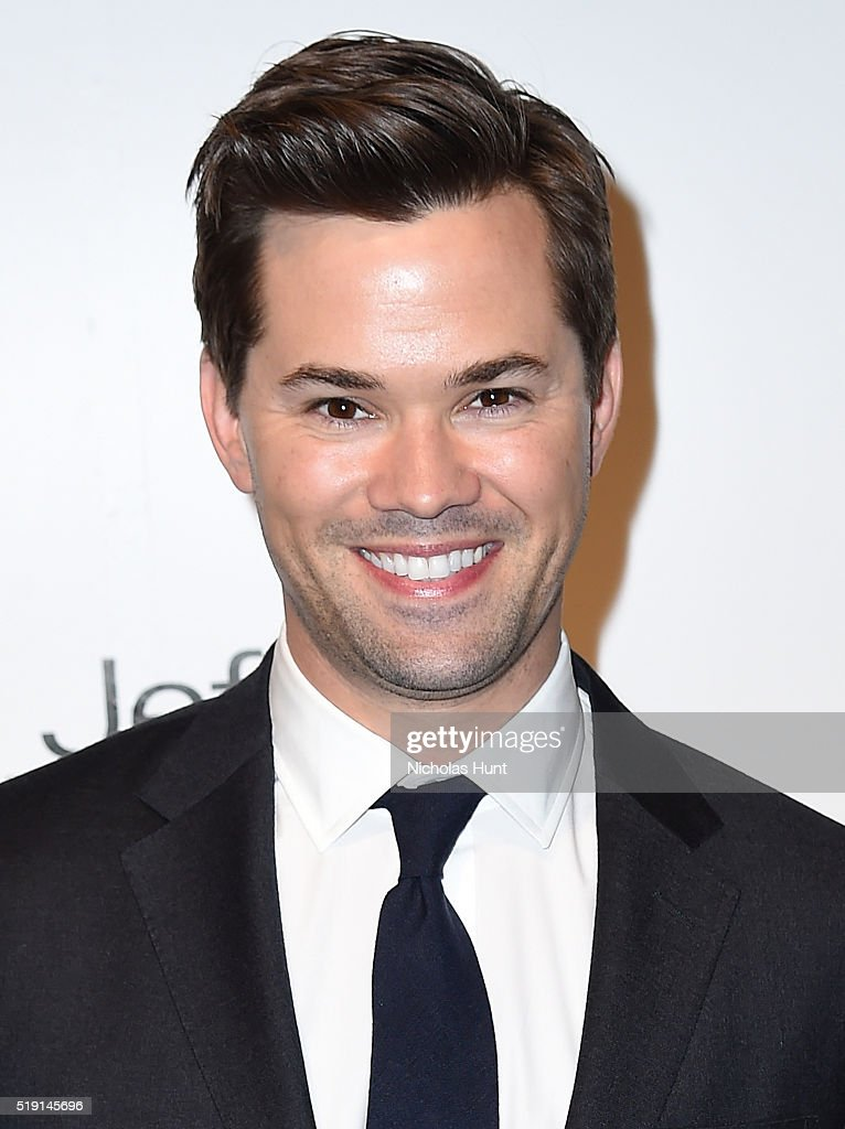 Actor Andrew Rannells attends the Jeffrey Fashion Cares 13th Annual Fashion Fundraiser at the Intrepid Sea-Air-Space Museum on April 4, 2016 in New York City.