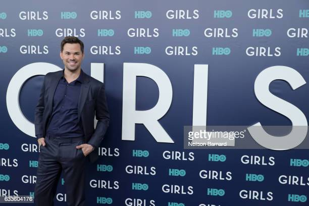 Actor Andrew Rannells attends the New York Premiere of the Sixth Final Season of 'Girls' at Alice Tully Hall Lincoln Center on February 2 2017 in New...