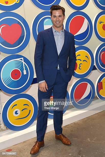 Actor Andrew Rannells attends the opening party and celebration of LOVE From Cave to Keyboard Imagined by Pepsi at 433 Broadway on July 14 2016 in...