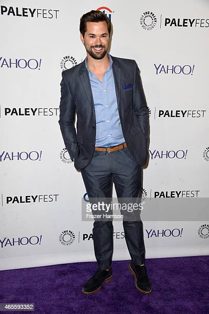 Actor Andrew Rannells attends The Paley Center For Media's 32nd Annual PALEYFEST LA Girls at Dolby Theatre on March 8 2015 in Hollywood California