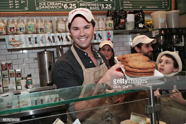 Actor Andrew Rannells sells cookies as part of the 5th Annual Broadway Bakes Event benefiting Broadway Cares/Equity Fights AIDS at Schmackary's...