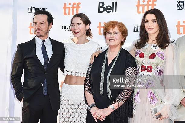 Actor Andrew Scott Actress Caren Pistorius writer Deborah Lipstadt and Actress Rachel Weisz attend the 'Denial' premiere during 2016 Toronto...