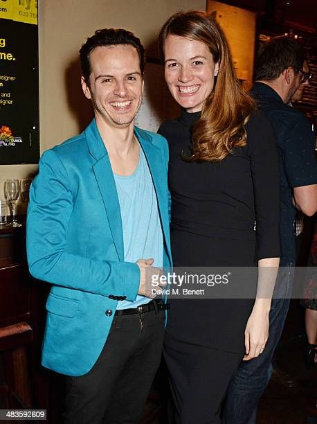 Actor Andrew Scott and director Carrie Cracknell attend an after party following the press night performance of 'Birdland' at the Royal Court Theatre...