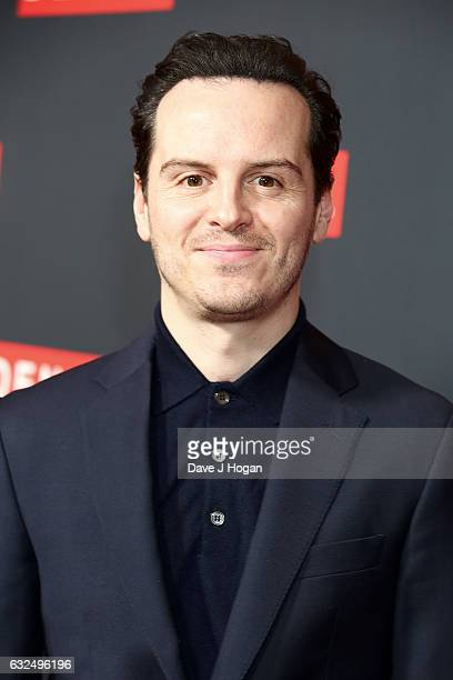 Actor Andrew Scott attends the Gala screening of 'Denial' at Ham Yard Hotel on January 23 2017 in London England