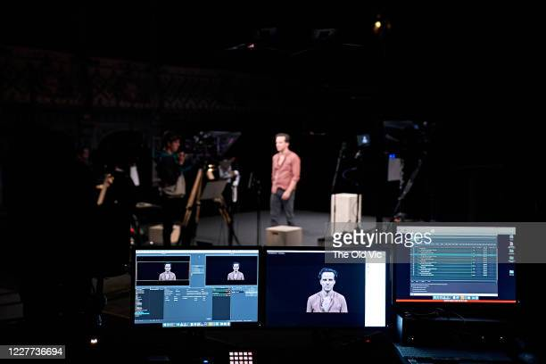 Actor Andrew Scott is seen during a dress rehearsal for 'Three Kings' at The Old Vic Theatre on July 22, 2020 in London, England. The World Premiere...