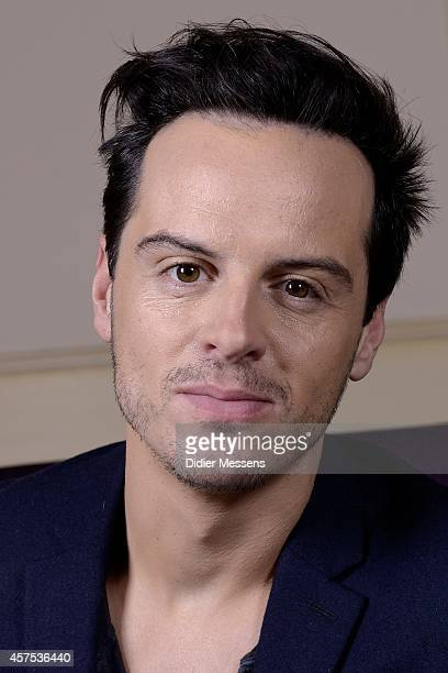Actor Andrew Scott poses for a picture during the 41st Ghent International Film Festival on October 20 2014 in Ghent Belgium