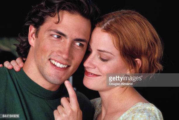 Actor Andrew Shue at Home with His Sister Actress Elizabeth Shue