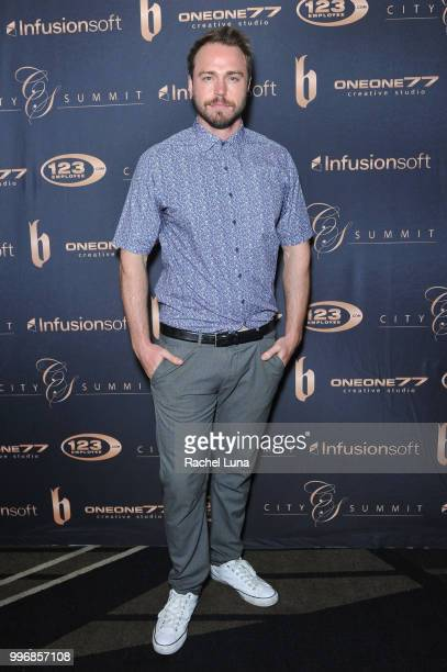 Actor Andrew Steel attends City Summit Wealth Mastery And Mindset Edition afterparty at Allure Banquet Catering on July 11 2018 in Van Nuys California