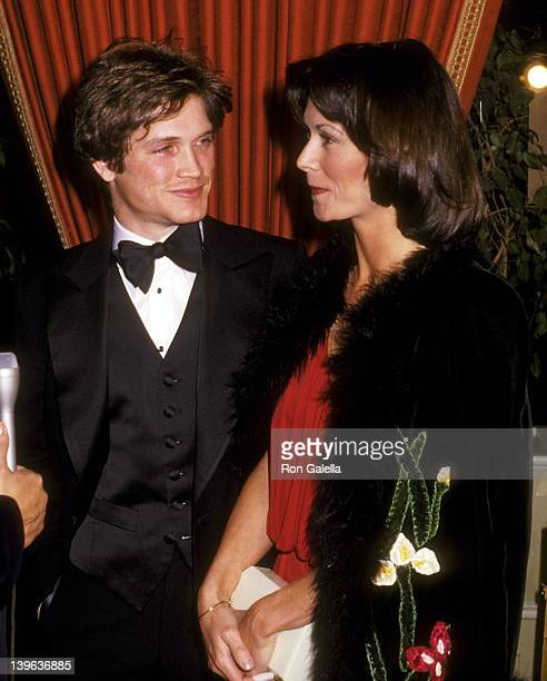 Actor Andrew Stevens and actress Kate Jackson attend the 36th Annual Golden Globe Awards on January 27 1979 at Beverly Hilton Hotel in Beverly Hills...