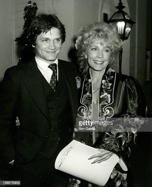 Actor Andrew Stevens and actress Stella Stevens attend the party for Stella Stevens February 21 1981 at Chasen's Restaurant in Beverly Hills...