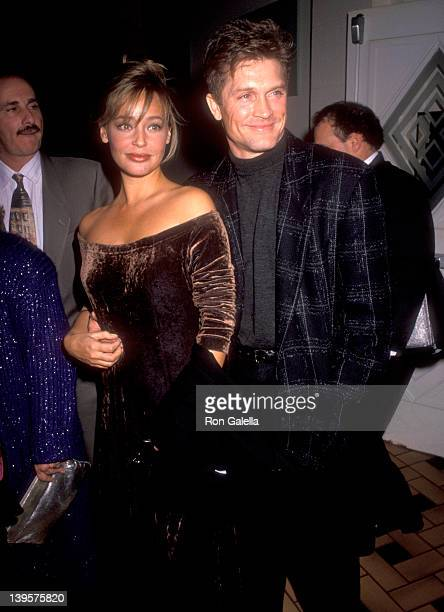 Actor Andrew Stevens and date attend Audrey Landers Opening Night Singing Engagement on March 5 1991 at the Hollywood Roosevelt Cinegrill in...
