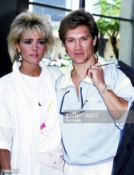 Actor Andrew Stevens and date attend Connie Stevens Third Annual Celebrity Fashion Show to Benefit the Windfeather Foundation on June 8 1986 at...