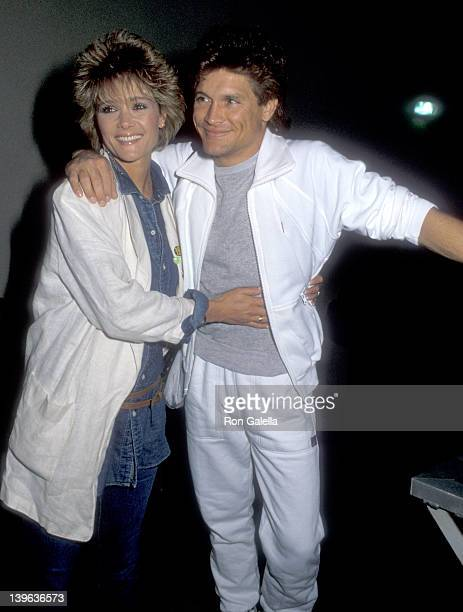 Actor Andrew Stevens and date attend the 16th Annual Beverly Hills Police Department vs Celebrities Charity Basketball Game on March 1 1986 at...