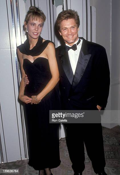 Actor Andrew Stevens and date attend the 21st Annual Nosotros Golden Eagle Awards on June 14 1991 at Beverly Hilton Hotel in Beverly Hills California