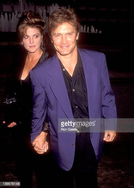 Actor Andrew Stevens and date attend The Secret Garden Opening Night Performance on July 15 1992 at the Shubert Theatre in Century City California