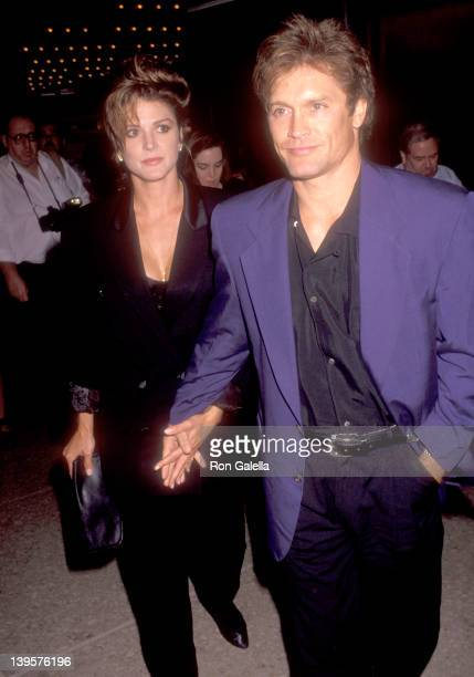 Actor Andrew Stevens and date attend 'The Secret Garden' Opening Night Performance on July 15 1992 at the Shubert Theatre in Century City California