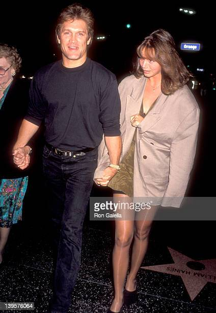 Actor Andrew Stevens and date attend the 'Where the Day Takes You' Hollywood Premiere on September 8 1992 at Mann's Chinese Theatre in Hollywood...