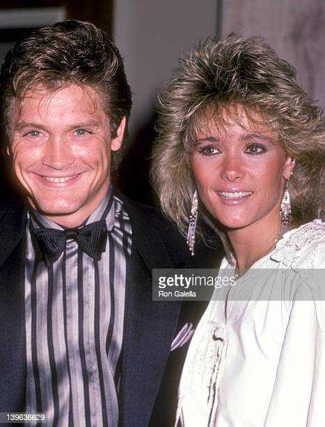Actor Andrew Stevens and date attend the WrapUp Party for the Eighth Season of The Love Boat on March 31 1985 at Beverly Hilton Hotel in Beverly...