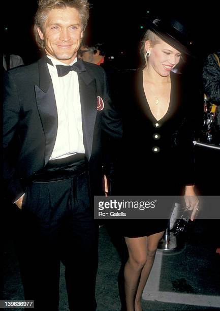 Actor Andrew Stevens and date attend Variety Clubs International's AllStar Party for Joan Collins Television Special on November 22 1987 at Warner...