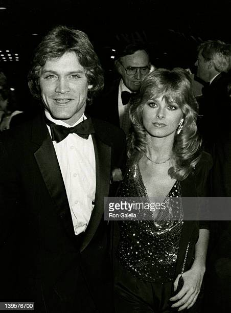 Actor Andrew Stevens and date Cathy St George attend the world premiere of VictorVictoria on March 16 1982 at the Plitt Theater in Century City...