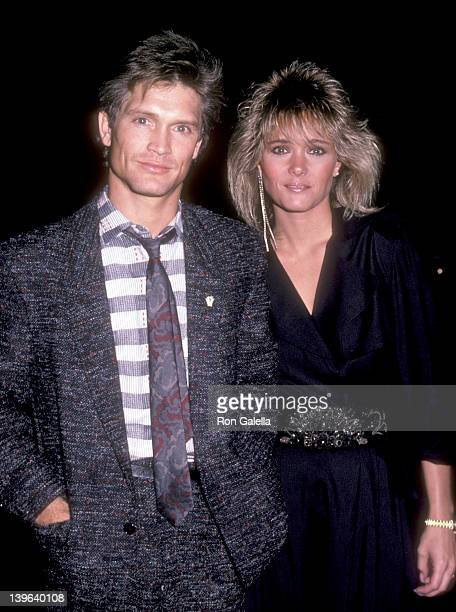 Actor Andrew Stevens and date on November 20 1985 dine at Spago in West Hollywood California