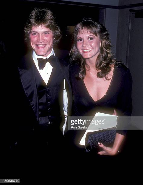 Actor Andrew Stevens and guest Carolyn Wheeler attend the 33rd Annual Primetime Emmy Awards After Party on September 13 1981 at Century Plaza Hotel...