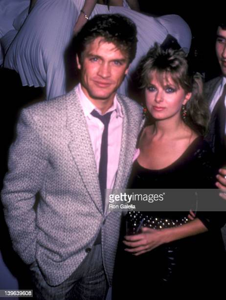 Actor Andrew Stevens and model Cathy St George attend British Pop Singer Marilyn's Opening Night Performance on February 20 1985 at Area in New York...