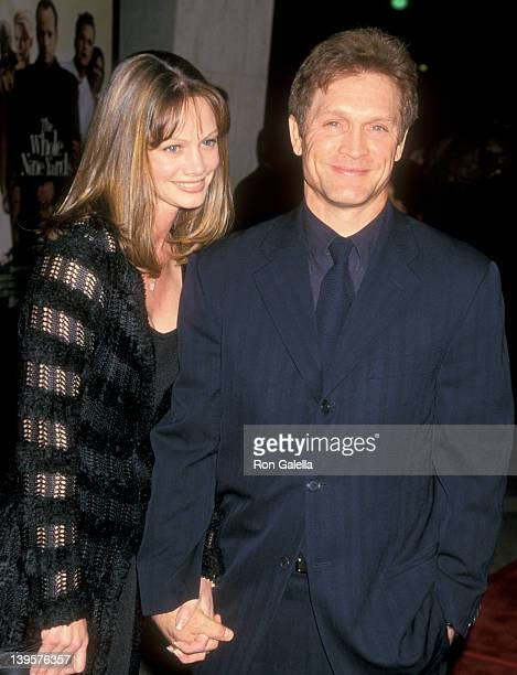Actor Andrew Stevens and wife Robyn Stevens attend 'The Whole Nine Yards' Century City Premiere on February 17 2000 at Loews Cineplex Century Plaza...