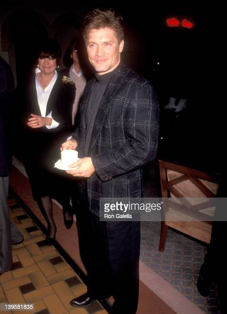 Actor Andrew Stevens attends Audrey Landers Opening Night Singing Engagement on March 5 1991 at the Hollywood Roosevelt Cinegrill in Hollywood...