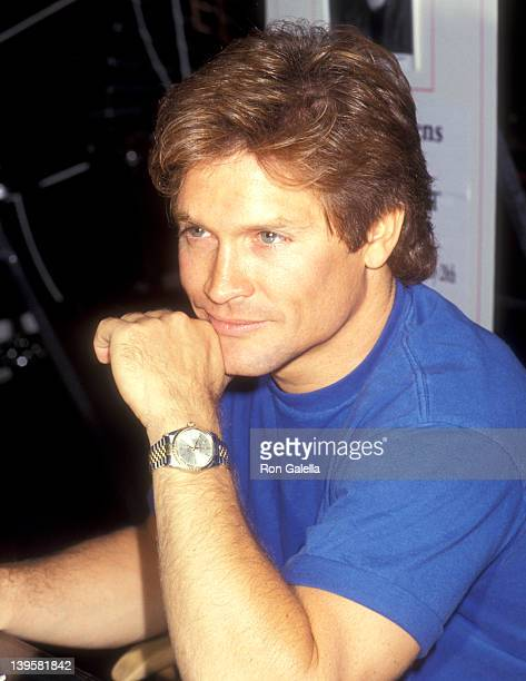 Actor Andrew Stevens attends the 11th Annual Video Software Dealers Association Convention and Expo on July 26 1992 at Las Vegas Convention Center in...