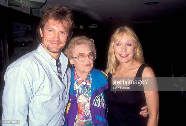 Actor Andrew Stevens grandmother Dovey Eggleston and mother actress Stella Stevens attend Gene Simmons' 44th Birthday Party on August 29 1993 at The...