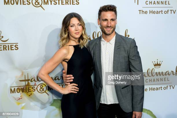 Actor Andrew Walker and Cassandra Troy arrives for the 2017 Summer TCA Tour Hallmark Channel And Hallmark Movies And Mysteries on July 27 2017 in...