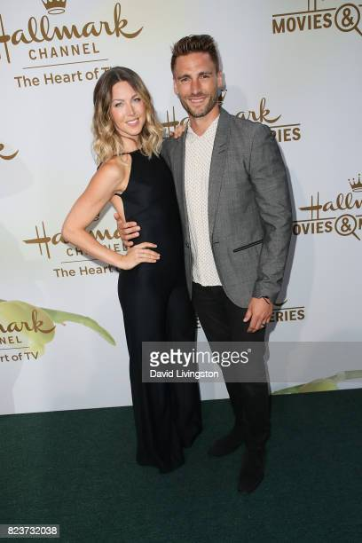 Actor Andrew Walker and guest attend the Hallmark Channel and Hallmark Movies and Mysteries 2017 Summer TCA Tour on July 27 2017 in Beverly Hills...