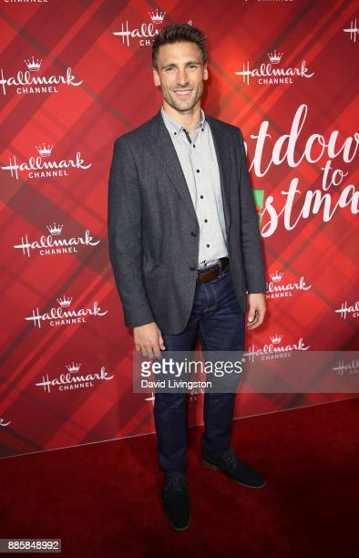 Actor Andrew Walker attends a screening of Hallmark Channel's 'Christmas at Holly Lodge' at The Grove on December 4 2017 in Los Angeles California