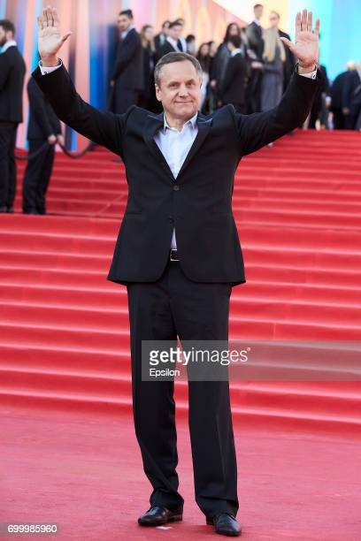 Actor Andrey Sokolov attends opening of the 39th Moscow International Film Festival outside the Karo 11 Oktyabr Cinema on June 22 2017 in Moscow...