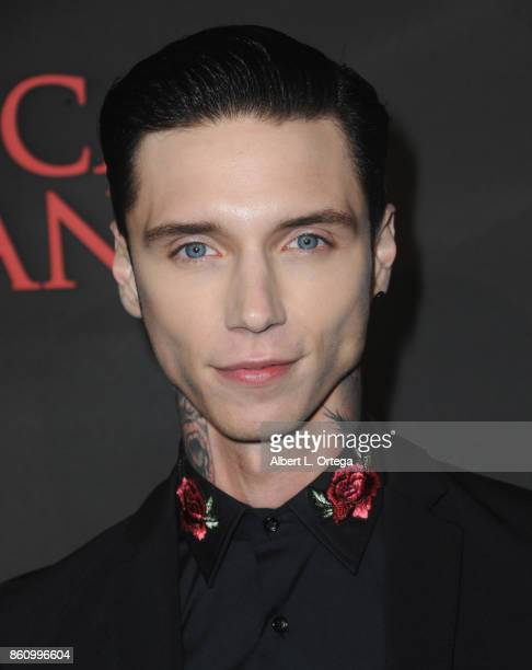 Actor Andy Biersack arrives for the Premiere Of Miramax's 'American Satan' held at AMC Universal City Walk on October 12 2017 in Universal City...