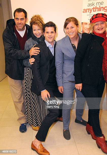 Actor Andy Buckley actress Moly Hagan actor Max Carver and guests attend the Los Angeles Premiere of 'Ask Me Anything' at Clarity Theater on December...